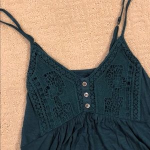 American Eagle XS blue crotchet tank top